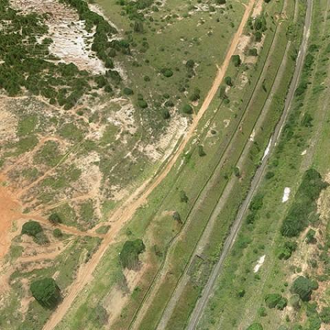Levantamento de linha férrea