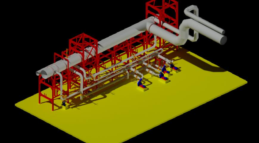 Scanner de tubulação de gases