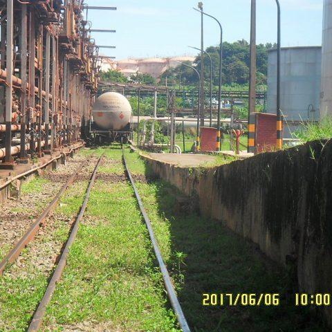 Nivelamento de trilhos em terminal de cargas