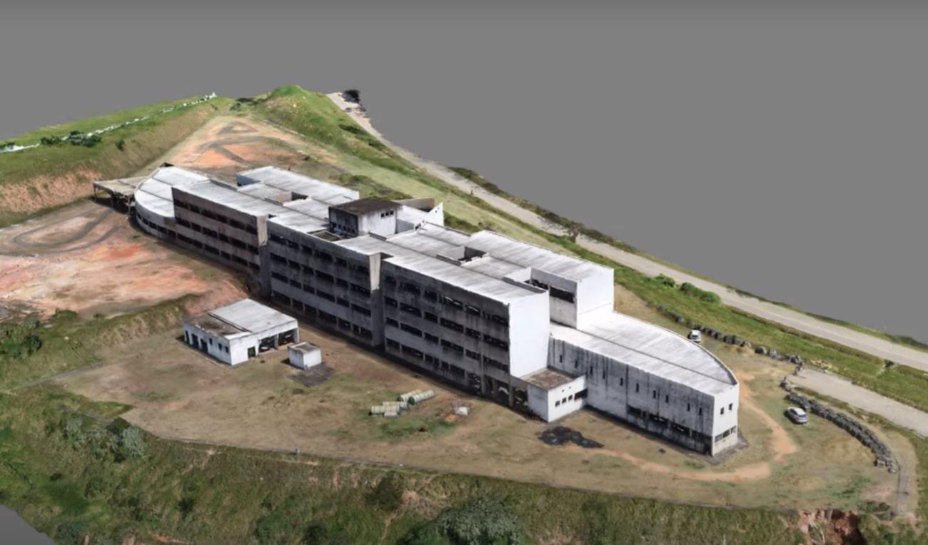 Vista aérea hospital Conselheiro Lafaiete